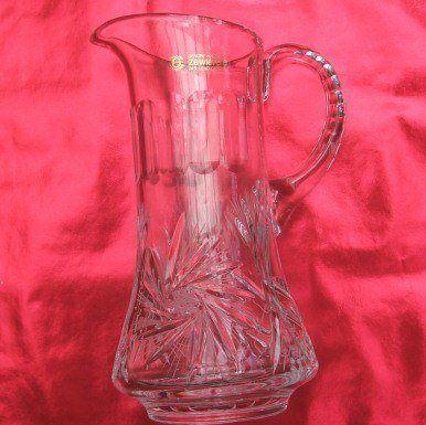 Zawiercie crystal wine jug