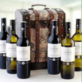 Italian 6 Bottle Wine Gift Chest